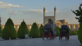 Isfahan Imam Square carriages stock video footage