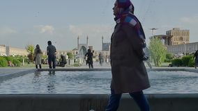 Isfahan Imam Square fountain stock video
