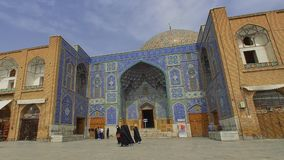 Isfahan Imam Square Lotfollah Mosque stock video footage