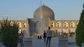 Isfahan Imam Square på solnedgången arkivfilmer