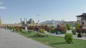 Isfahan Imam Square view stock video footage