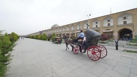 Isfahan ImamSquare vagn lager videofilmer