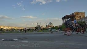 Isfahan ImamSquare vagn arkivfilmer