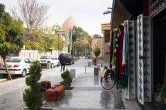 Street in Jolfa, Isfahan, Iran royalty free stock photos