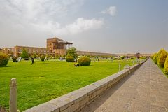 Isfahan Imam square promenade Stock Image