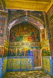 The Last Supper icon in Bethlehem church of Isfahan, Iran. ISFAHAN, IRAN - OCTOBER 20,2017: The Last Supper icon in Armenian Orthodox Bethlehem Church, located Stock Photo