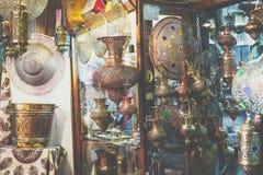 ISFAHAN IRAN, PAŹDZIERNIK, - 06, 2016: Tradycyjni irańczyka rynku półdupki Fotografia Royalty Free