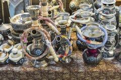 ISFAHAN IRAN, PAŹDZIERNIK, - 06, 2016: Tradycyjni irańczyka rynku półdupki Zdjęcia Stock