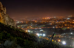 Isfahan landscape. A night cityscape of Isfahan in central Iran Royalty Free Stock Images