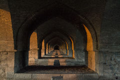 Shadows. Isfahan Siosepol bridge islamic architecture Stock Photo