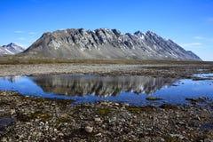Isfjord, Spitsbergen, le Svalbard Fotografia Stock Libera da Diritti