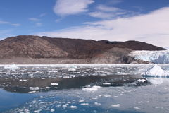 Isglaciär Grönland Royaltyfri Foto