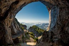 Isgrotta, Werfen, Österrike Arkivfoton