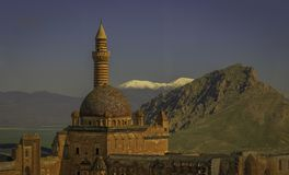 Ishak巴夏宫殿在多乌巴亚泽特,土耳其 库存图片