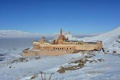 Ishak巴夏宫殿在美好的冬日 库存照片