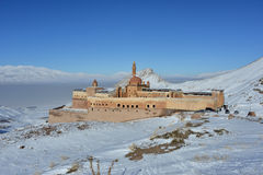 Ishak Pasha Palace in beautiful winter day stock photos