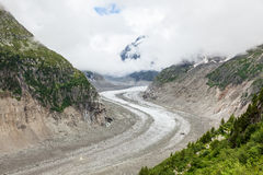 Ishav - Mer de glaces i Chamonix - Frankrike Arkivbilder