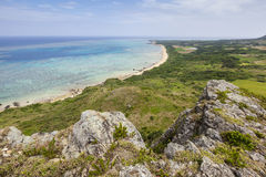 Ishigaki Coastline, Okinawa, Japan. General view of the coastline at Cape Hirakubo-saki on Ishigaki Island in Okinawa Prefecture, Japan Stock Images