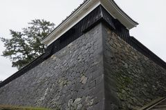 Ishigaki of Matsue Castle, a national treasure in Shimane prefecture. Matsue Castle, a national treasure in Shimane Prefecture, Japan Stock Photography