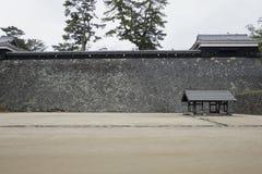 Ishigaki of Matsue Castle, a national treasure in Shimane prefecture. Matsue Castle, a national treasure in Shimane Prefecture, Japan Royalty Free Stock Photos