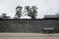 Ishigaki of Matsue Castle, a national treasure in Shimane prefecture. Matsue Castle, a national treasure in Shimane Prefecture, Japan Royalty Free Stock Image