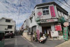 Ishigaki-Straßenansicht in Japan Lizenzfreies Stockbild