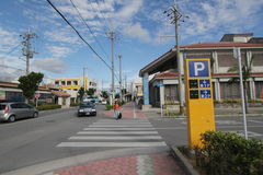 Ishigaki street view in Japan. Japan Ishigaki street view. Ishigaki is a Japanese island west of Okinawa Hontō and the second-largest island of the Yaeyama Royalty Free Stock Photos