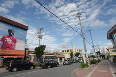 Ishigaki street view in Japan. Japan Ishigaki street view. Ishigaki is a Japanese island west of Okinawa Hontō and the second-largest island of the Yaeyama Royalty Free Stock Images