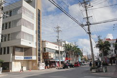 Ishigaki street view in Japan. Japan Ishigaki street view. Ishigaki is a Japanese island west of Okinawa Hontō and the second-largest island of the Yaeyama Stock Image