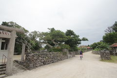 Ishigaki street view in Japan Royalty Free Stock Photos