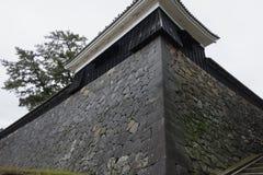 Ishigaki von Matsue Castle, ein nationaler Schatz in der Präfektur Shimane stockfotografie