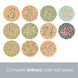 Ishihara color test Royalty Free Stock Photos