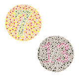 Ishihara Test. Daltonism,color blindness disease. percepcion test Royalty Free Stock Images