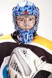 Ishockeygoalie Arkivbilder