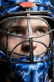 Ishockeygoalie Fotografering för Bildbyråer