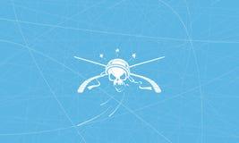 Ishockeylaget piratkopierar royaltyfri illustrationer