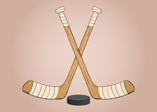Ishockeypinnar Arkivfoton