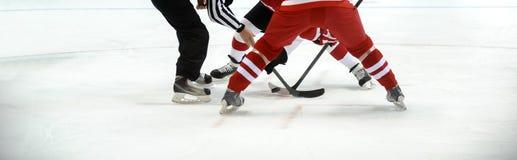 Ishockeyspelare på isen th för lag för sport för koppfotbollpris arkivbilder