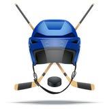 Ishockeysymbol bakgrundsdesignelement fyra vita snowflakes Fotografering för Bildbyråer