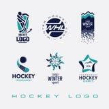 Ishockeyturneringlogo stock illustrationer