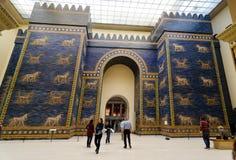 Ishtar Gate. BERLIN, GERMANY - SEPTEMBER 28: Ishtar Gate in the Pergamon Museum on September 28, 2013 in Berlin, Germany Royalty Free Stock Photos