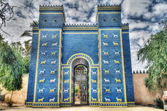 Ishtar gates in Babylon. Copy of Ishtar gates in Babylon ruines , Iraq Royalty Free Stock Photos