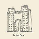Ishtar-Tor von Babylonian lizenzfreies stockbild