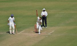 Ishwar Pandey's Bowling Action Royalty Free Stock Image