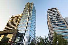 Isidora Goyenechea Street. Santiago, Region Metropolitana, Chile - February 07, 2017: Buildings at Isidora Goyenechea street, one of the wealthiest and expensive Royalty Free Stock Image