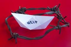 ISIL Crise Paper Boat Foto de Stock Royalty Free