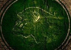 Isilhouette de singe sur le contexte texturisé de grunge Image libre de droits