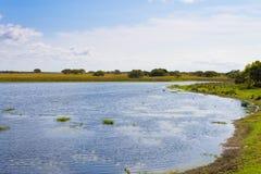 Isimangaliso-Sumpfgebiet-Parklandschaft lizenzfreie stockbilder