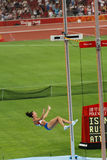 Isinbayeva de la Russie casse le record mondial Images stock