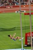 Isinbayeva de Rusia rompe el récord mundial Imagenes de archivo